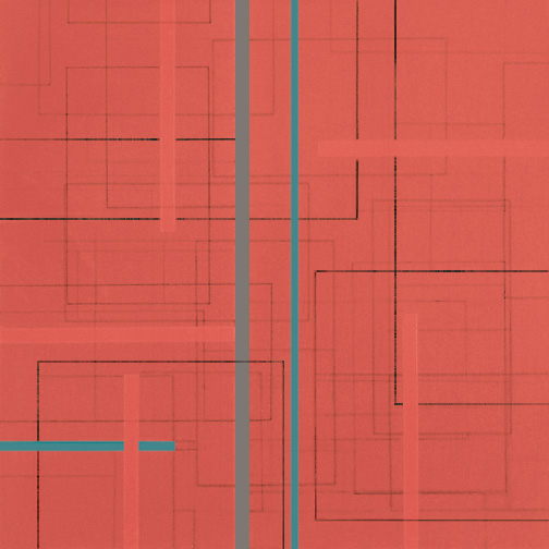 "Color Theory 3  Acrylic on Hardboard  12"" x 12""  2004"