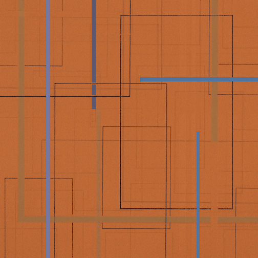 "Color Theory 17  Acrylic on Hardboard  12"" x 12""  2005"