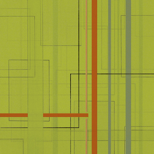 "Color Theory 20  Acrylic on Hardboard  12"" x 12""  2006"