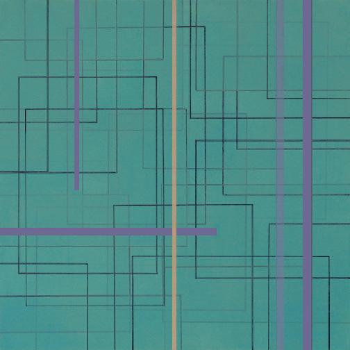 "Color Theory 22  Acrylic on Hardboard  12"" x 12""  2006"
