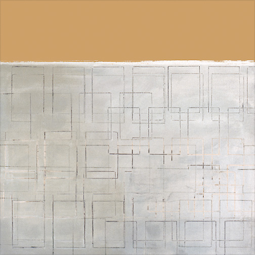 "Tan & White  Acrylic on Canvas  36"" x 36""  2000"