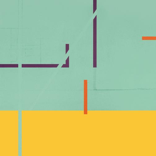 """Turquoise & Yellow  Acrylic on Canvas  36"""" x 36""""  2001"""