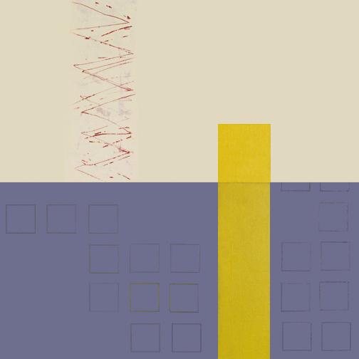 "Yellow Pillar  Acrylic on Canvas  36"" x 36""  2001"