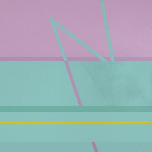 "Fuchsia & Turquoise  Acrylic on Canvas  36"" x 36""  2002"