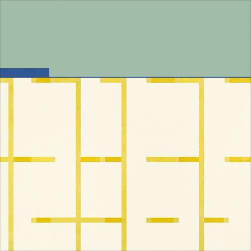 "Turquoise & White  Acrylic on Canvas  36"" x 36""  2002"