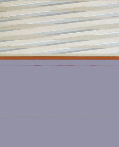 "Lavender & Orange  Acrylic on Hardboard  20"" x 16""  2004"