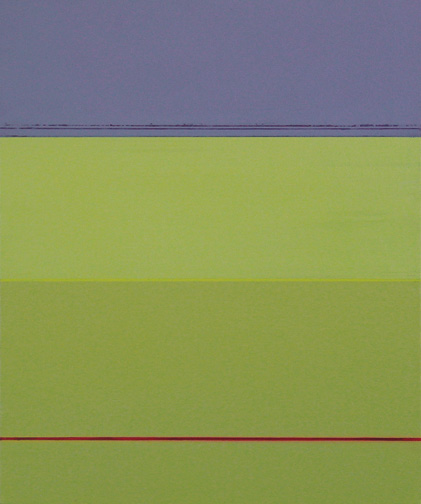 """Violet & Green  Acrylic on Canvas  24"""" x 20""""  2004"""