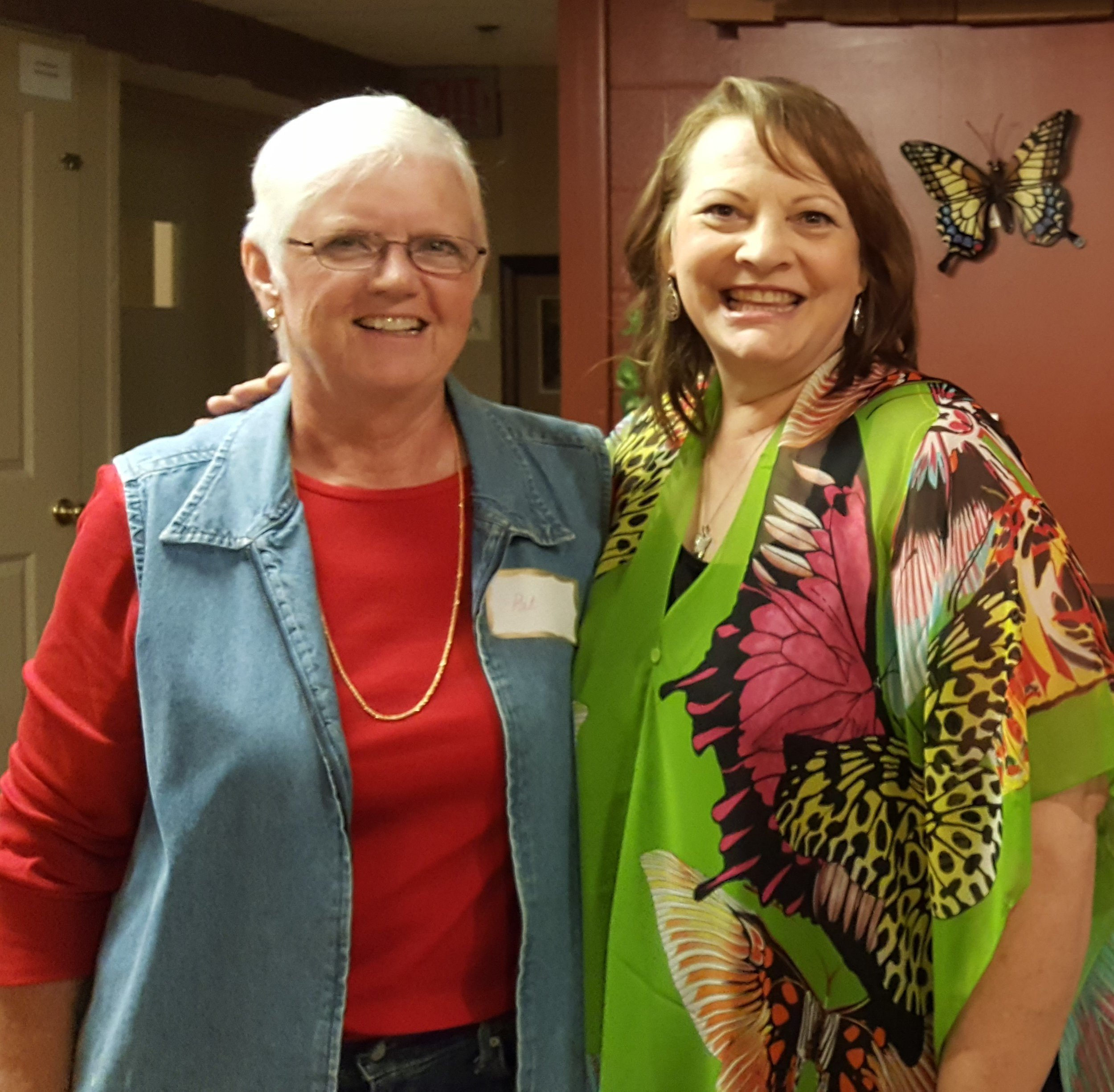 Pat Hixon and Kathy at the EnVision YOU Book Launch Party