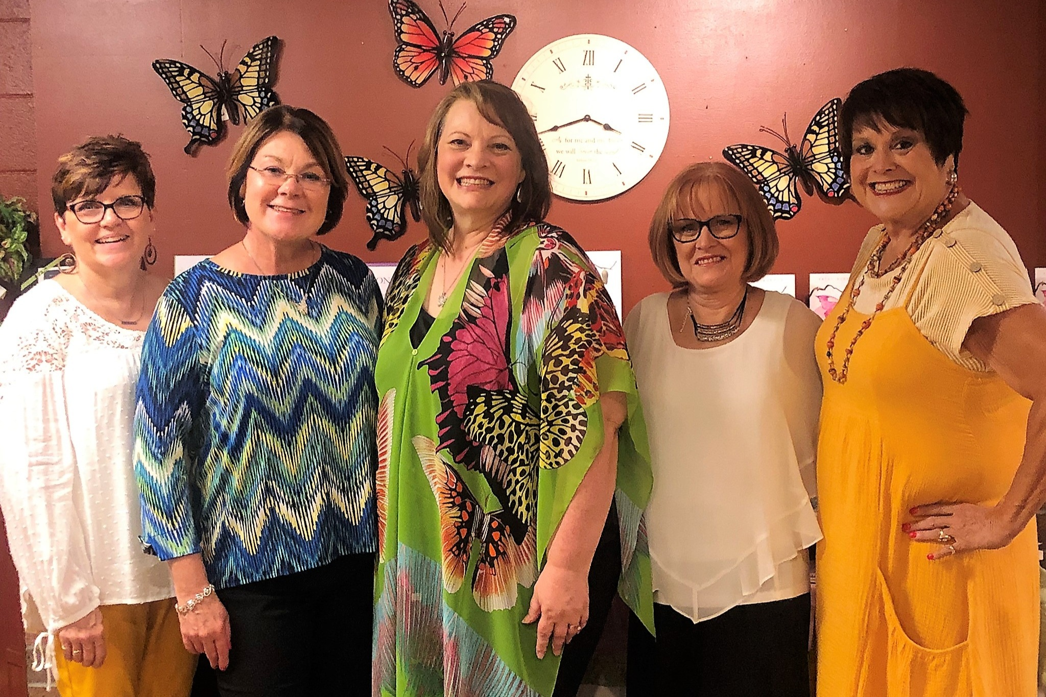 A Dream Team for sure! Meet the ladies who made it happen! L to R: Deb Gyetvai, Janice Rayl, Kathy, Barb Flynn, Jenny Sowers.