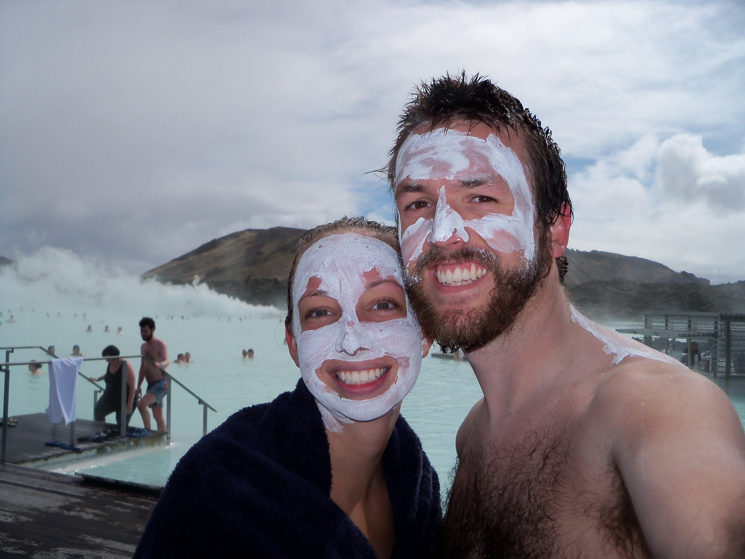 At the Blue Lagoon in Iceland