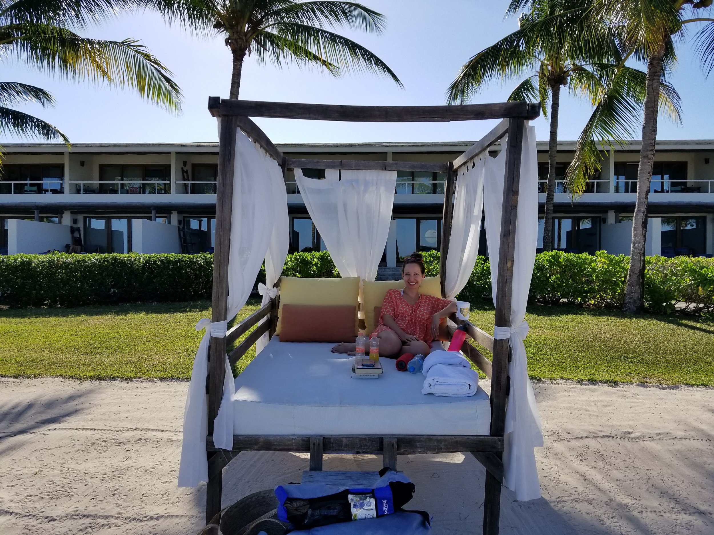 Cabana's are available to use.