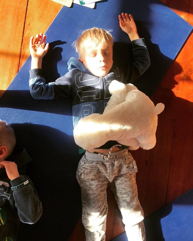 It is vital that when educating our children's brains that we do not neglect to educate their hearts, a key element of which has to be the nurturing of our compassionate nature.-Dalai Lama . . . All our classes end with Shavasana/guided meditation and the kids love it. How cute is this little yogi . . . #teachthemyoung❤️ #empoweringchildren #breathingexercisesforkids #wellington #mindfulnessforkids #shavasana #yoga #justbreathe #kidsyoga #newzealand