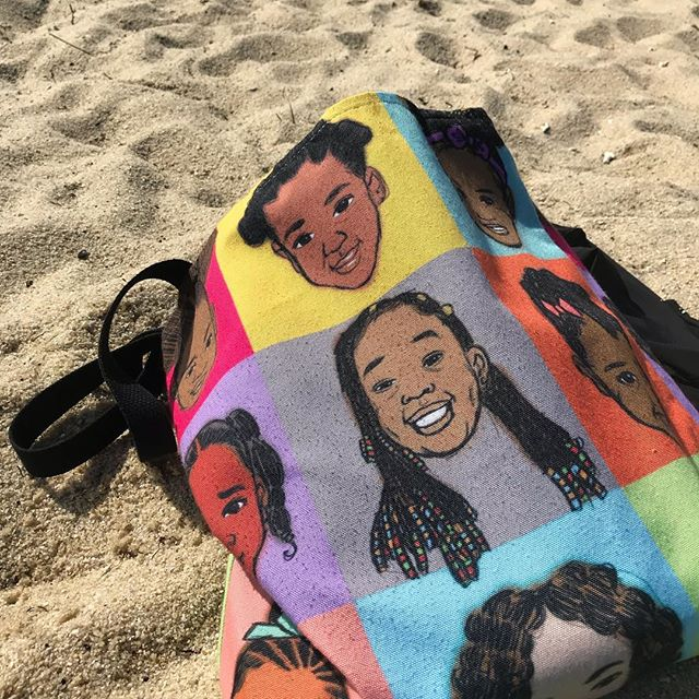 These gorgeous brown girls with natural dos make this bag my new favorite thing. Designed by Dania Frank @fluffyjo distributed by https://www.curlpowerkids.com/  #blackgirlmagic #naturalhair #4chair #curls #curlbox #suppportthepuff #totebag #wearableart #kids #girls #blackgirlsrock #fortheculture