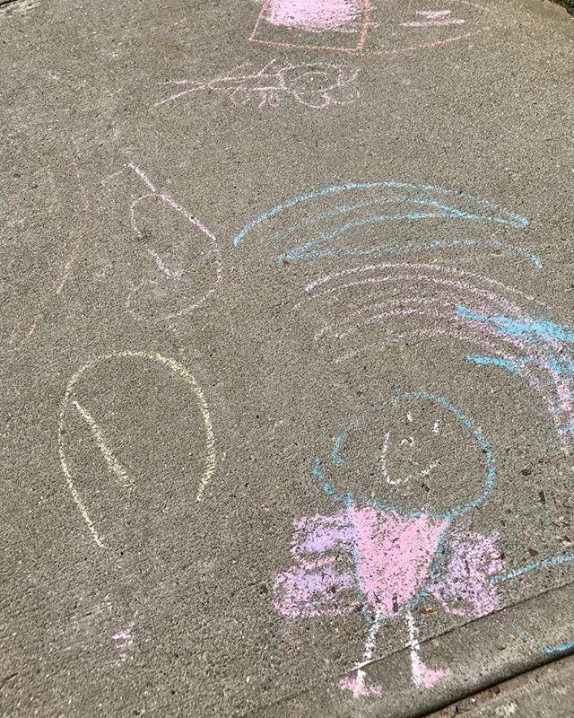 Vermont's own super butterfly girl makes a sidewalk appearance  #sidewalkchalk #sidewalkchalkart #kidsart #kids #art