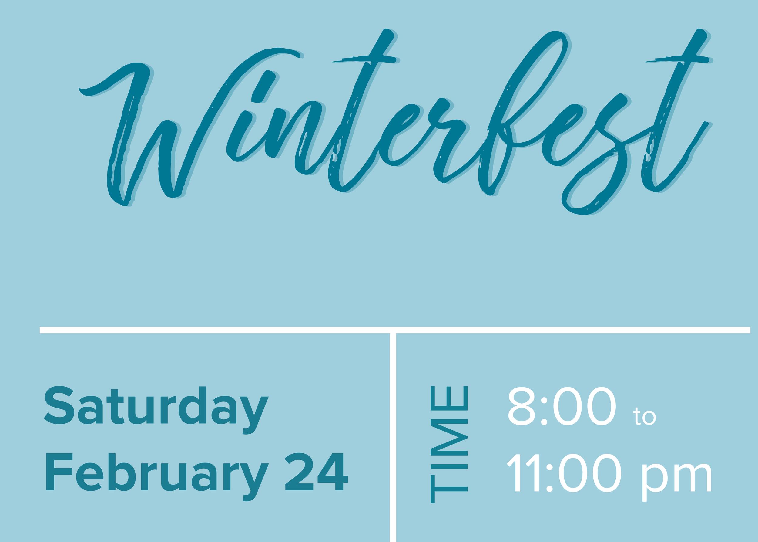 Winterfest Ticket Design