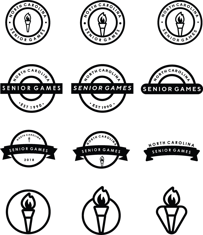 Early logo mock-ups