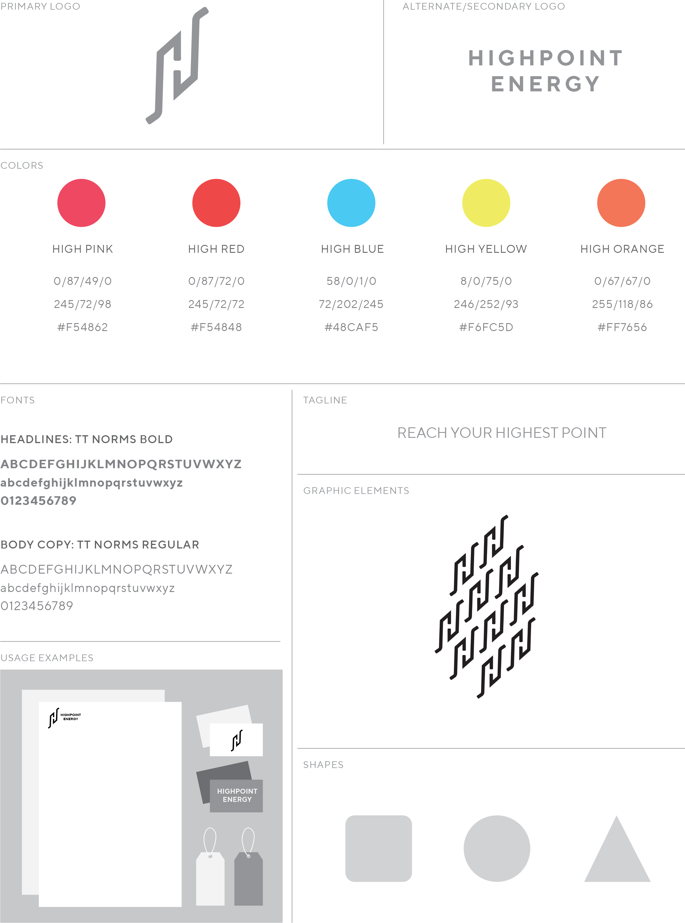 Brand Style Guide Page