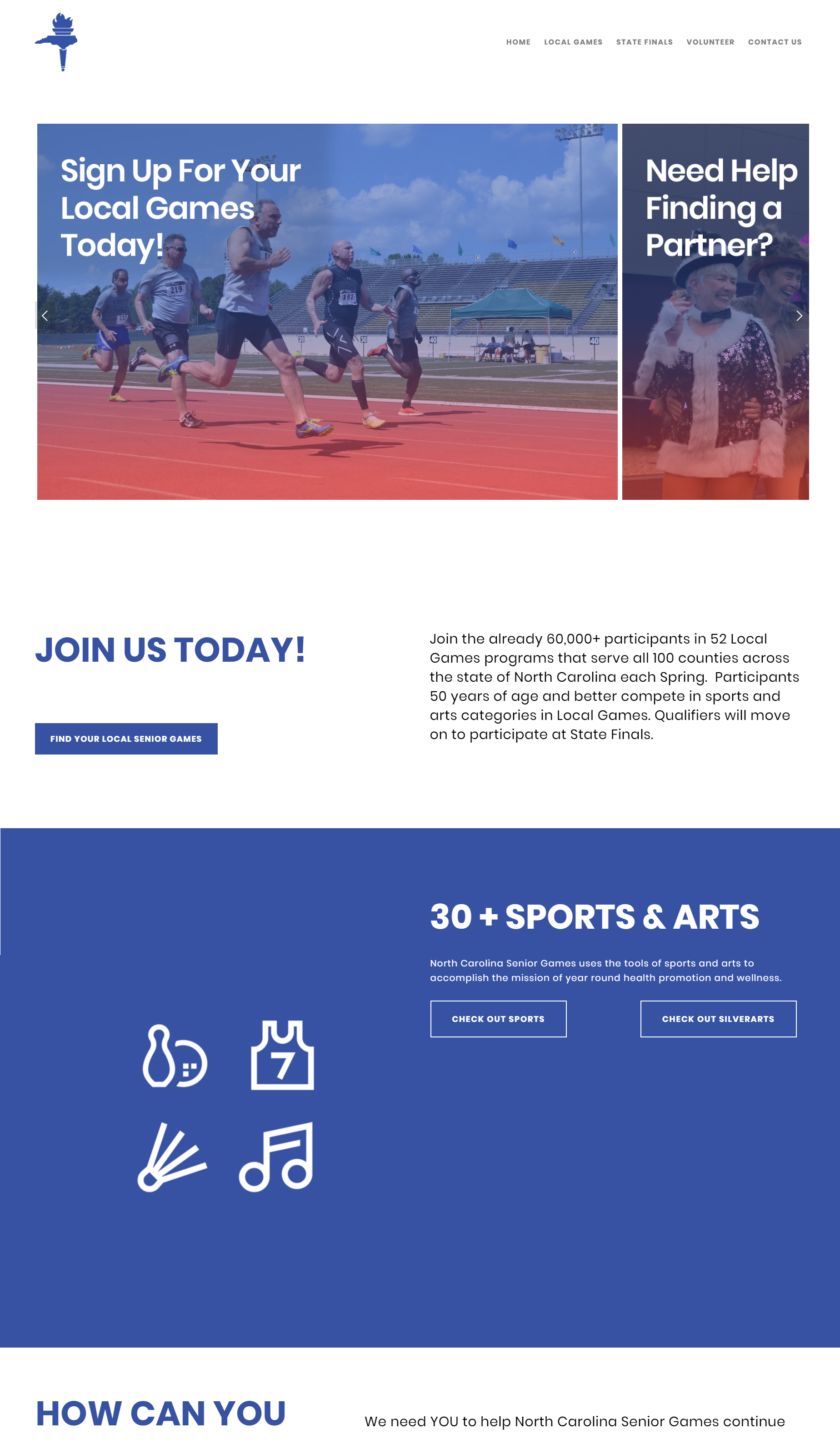 Final Website Home Page