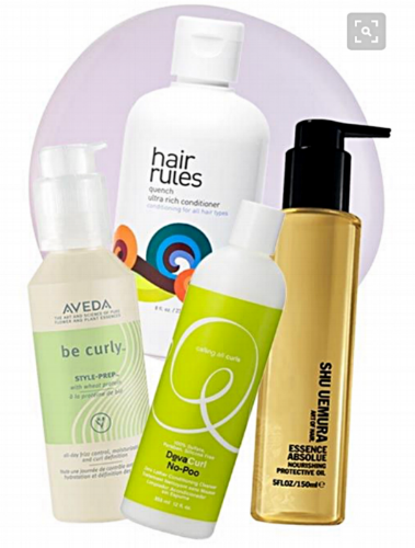 Favorites...  Brands:  Deva Curl. Shu Uemura. Aveda. Hair Rules. Just to name a few...Hair LOVE. Moisture and Hydration.