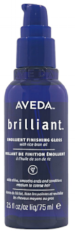 I always have on hand a gloss/oil for extra shine and sparkle. This is just one of a few brands that I enjoy. This GLOSS does not leave my strands sticky or build-up.  Aveda Hair Gloss...