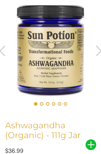 Beauty from the inside out  Sun Potion Ashwagandha