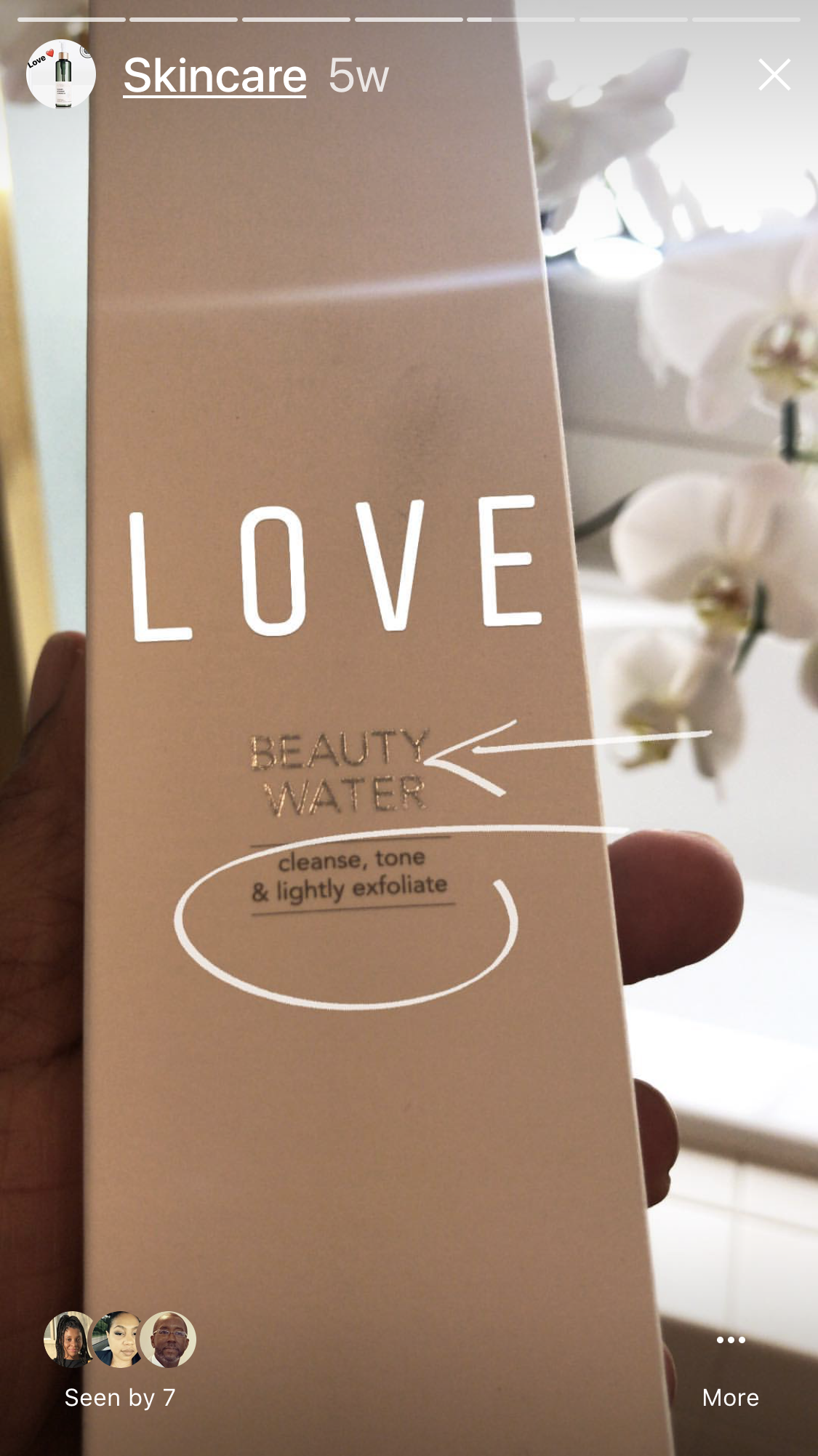 """""""My BEAUTY WATER"""" MY MICELAR WATER, This is my FAVORITE thus far. I feel no need to venture. This product gently tones and remove residue with ease. I find myself using it in the mornings to refresh and then reapply moisture before makeup."""