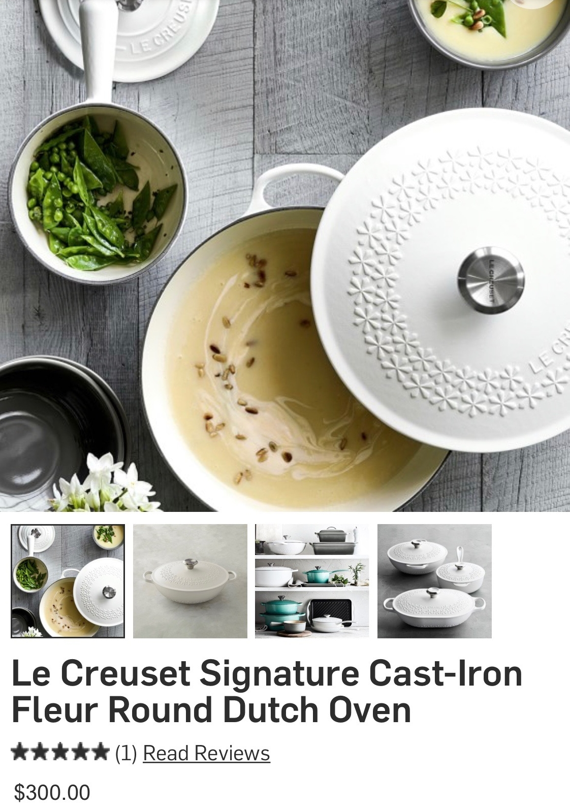 Okay! I am a huge fan of these pots and pans and I particularly like the white, however, I DO NOT LIKE the floral pattern. I'm a purist... keep it chic and simple. I am due for a new piece...