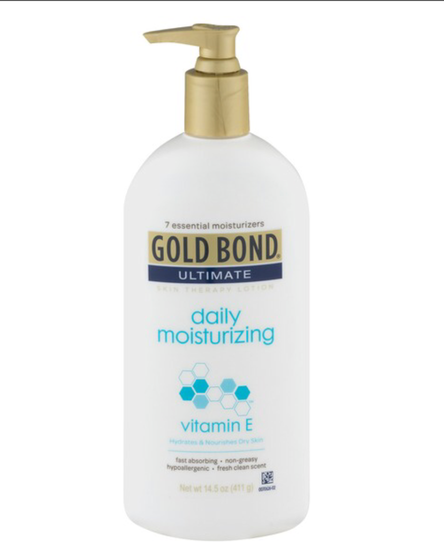 """""""Gold Bond"""" is a favorite daily moisturizing cream. I can find """"Gold Bond"""" almost everywhere."""