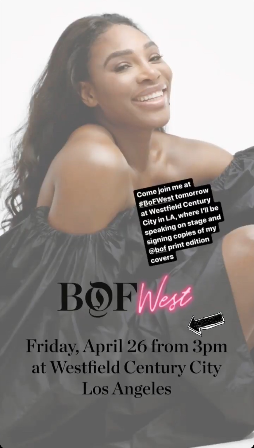 BoF  and   Serena William  s  Westfield  Mall