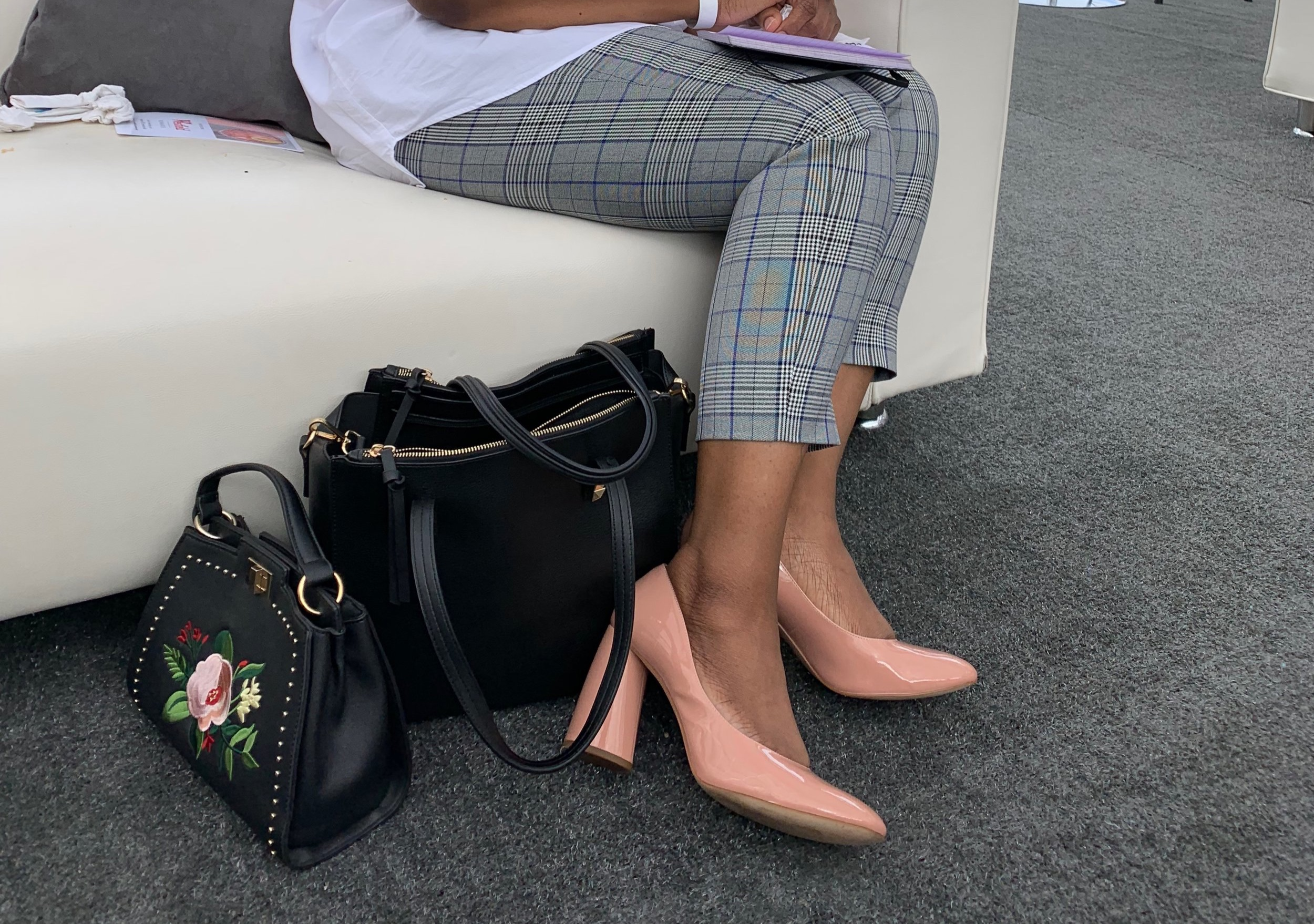 My trousers are by   Halogen   also from  NordstromRack  for a steal of  $17.49 !!!!!! YES! These are a  chic  staple .  I will wear them with  sneakers, flip flop, boots  whatever. The  fit  is easy and offers  easy styling.  The shoe is from  My Easter style blog  for details.