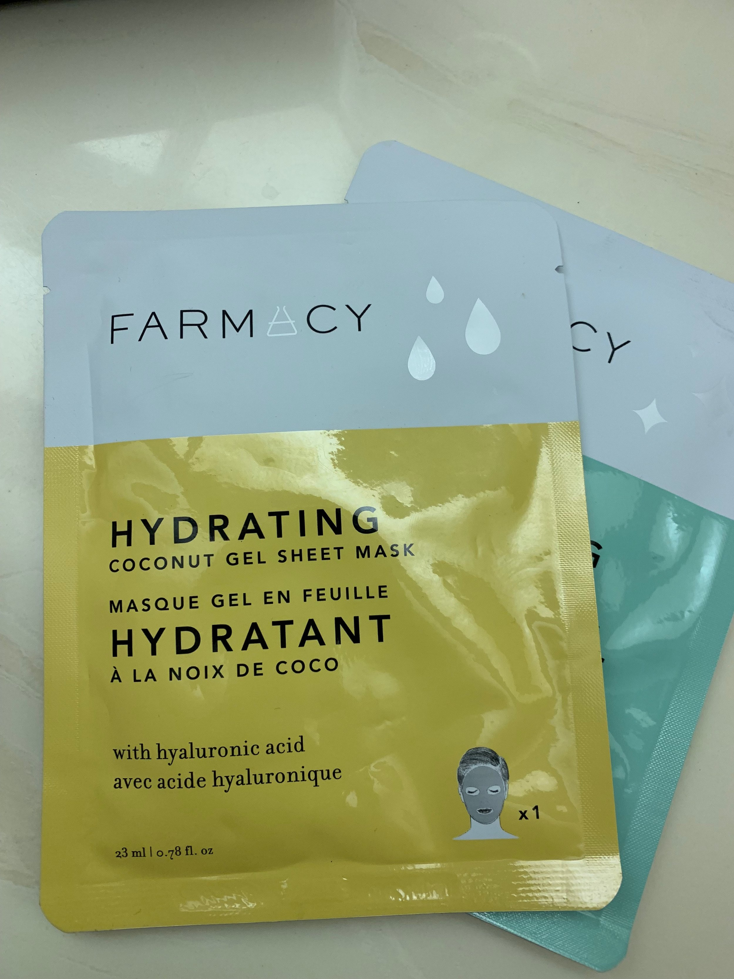 A few face  masks  by FARMACY. I haven't tried them yet. I only buy hydrating face masks.