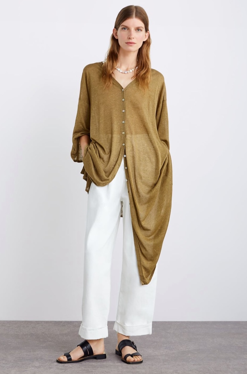 Buttoned Long Cardigan