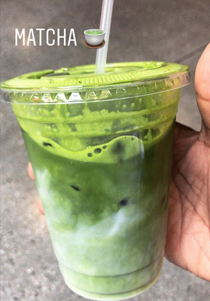 """Healthy Cravings… Matcha! Matcha! Matcha!!!! I love loading my matcha with lots of extra goodness. Collagen, CBD, Ashwagandha and oat milk, hot or cold.  Erewhon  has a """"Activated Matcha"""""""