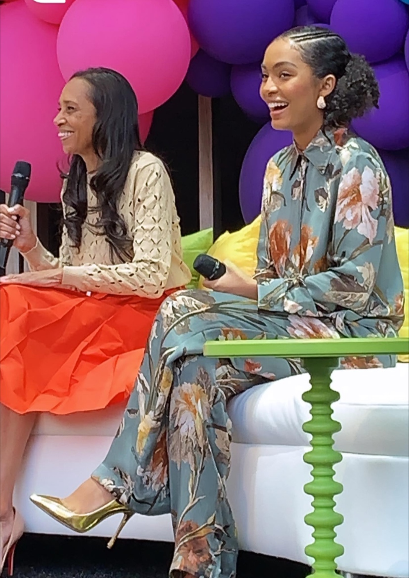 """My Happy Girl    Actress/Activist   Yara Shahid  i and warddrobe stylist   Michelle R. Cole   for """"Black-ish and Grown-ish"""""""
