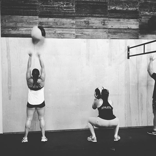 Wall balls before breakfast. No excuses to not make time for your fitness.