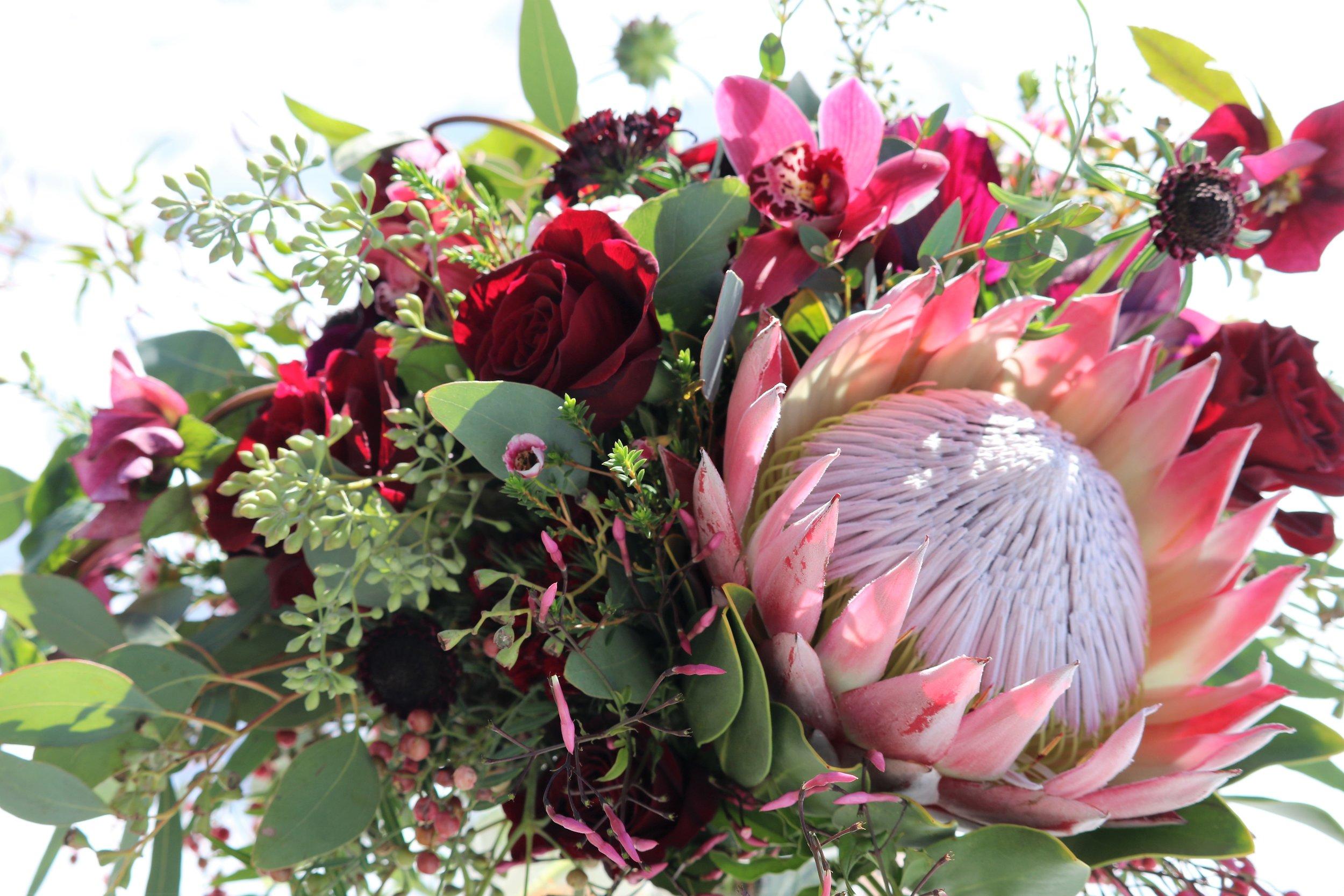 Sayde's bridal bouquet