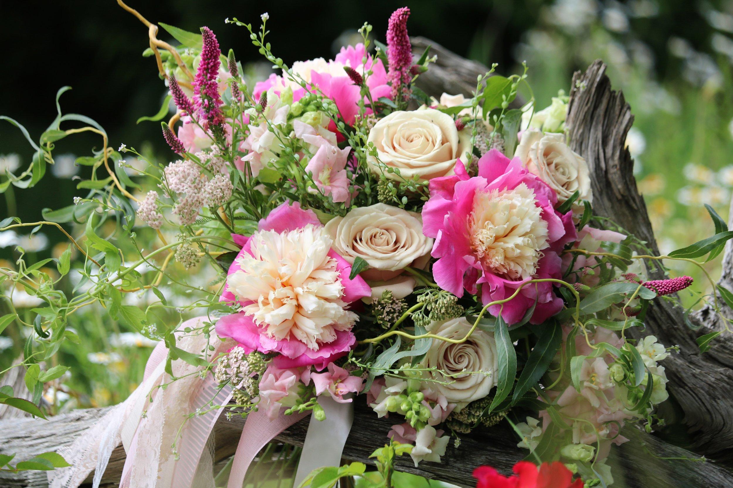 Bridal Bouquet featuring Alaska peonies