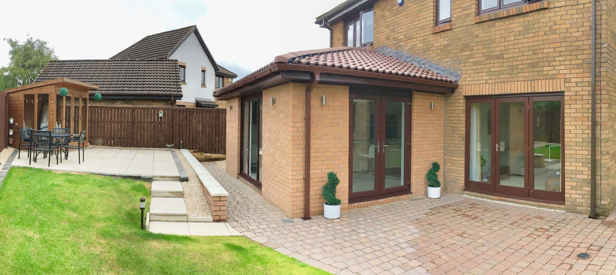 Single storey rear extension, Elderslie - An existing dark kitchen is turned it into a light thoughtfully designed extended kitchen and casual dining space for the family to enjoy...The project is now complete with very satisfied clients...