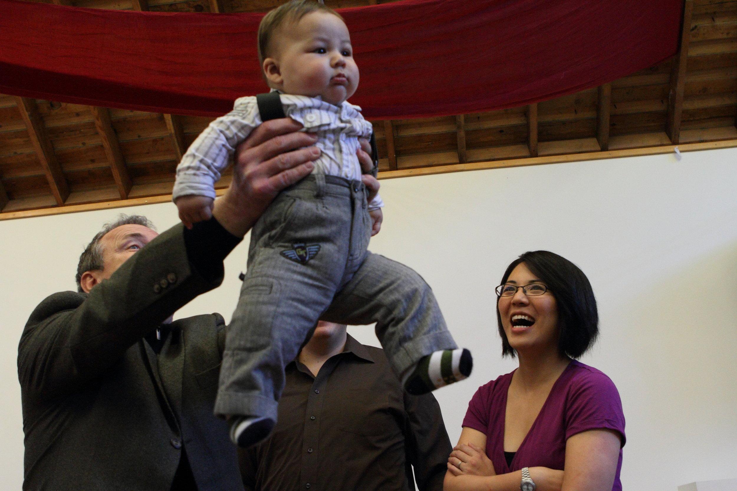 I photographed a  boy's baptism  at his parents' request.