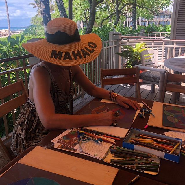 Every expression of play is an opportunity for expansion... Mandala making in Kona #HDwG