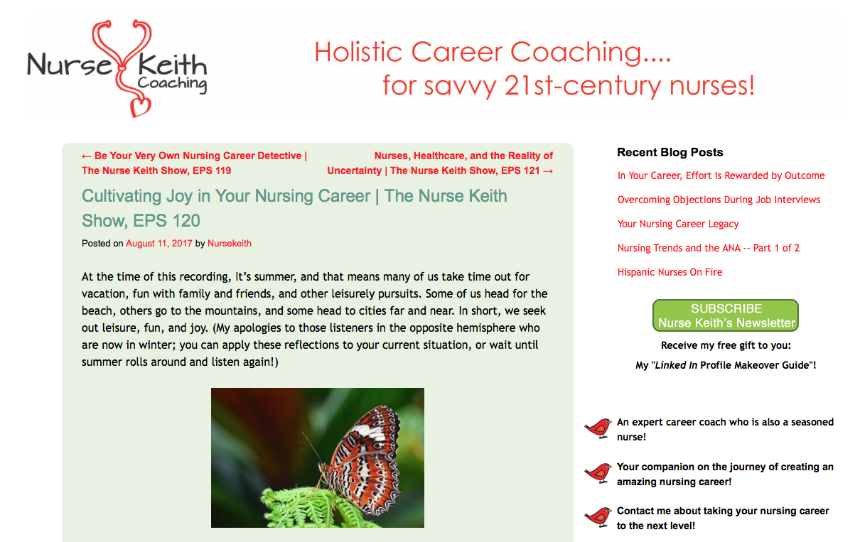 Cultivating Joy in Your Nursing Career | The Nurse Keith Show, EPS 120 - Speaking of Joy, my dear friend Caroline Cardenasis a master's-prepared oncology nurse in San Diego who's actually in the midst of earning her PhD in Somatic Psychology. She's been a guest on RNFM Radio, and the reason I bring her up is that the heart of her work in the world is teaching people how to experience more joy, especially through what she calls body play.