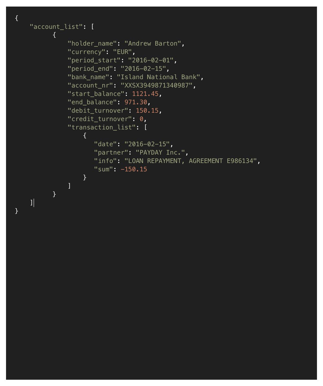 Archivo de entrada (JSON) -