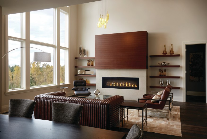 Modern Linear Gas Fireplaces.