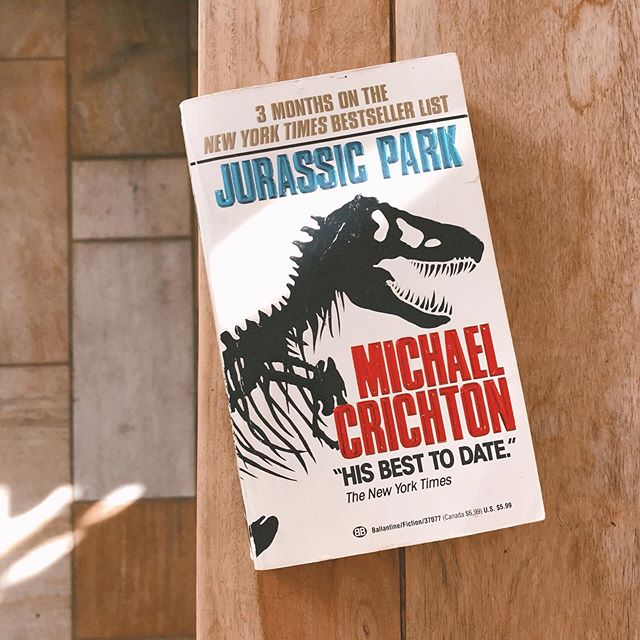 For as long as I've known Tim he's been trying to get me to read Jurassic Park. I have always refused because I LOVE the movie so much and I don't want the book to ruin the movie for me. Well, here's goes nothing... #jkthisishighstakes #iREALLYloveJurassicPark #tulipreads
