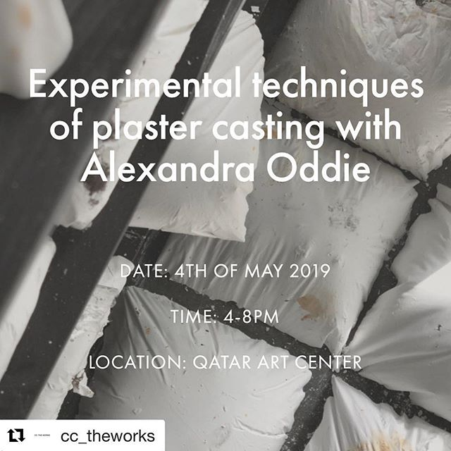 #Repost @cc_theworks with @get_repost ・・・ Are you interested in making objects and sculptures using plaster, we have just the class for you!  Experimental techniques of plaster casting with @alexandraoddie on 4th of May from 4-8 pm come and let's make something together. Seats are limited so please sign up on link in bio #casting #workshop #plaster #molds #sculpture #foundobjects #experimental #art #making  @cc_theworks - link in bio to sign up!!! ❤️