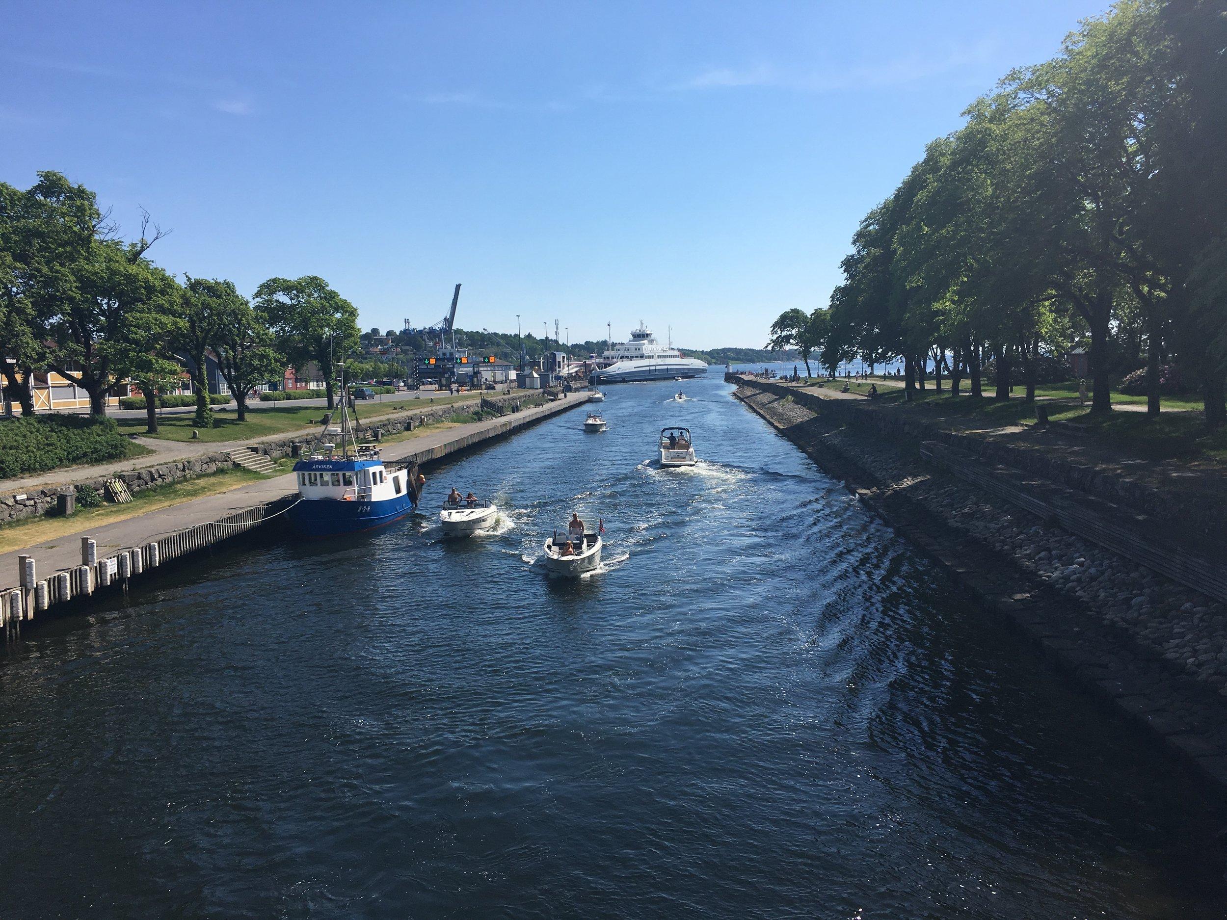 Kanalen i Moss mai 2018