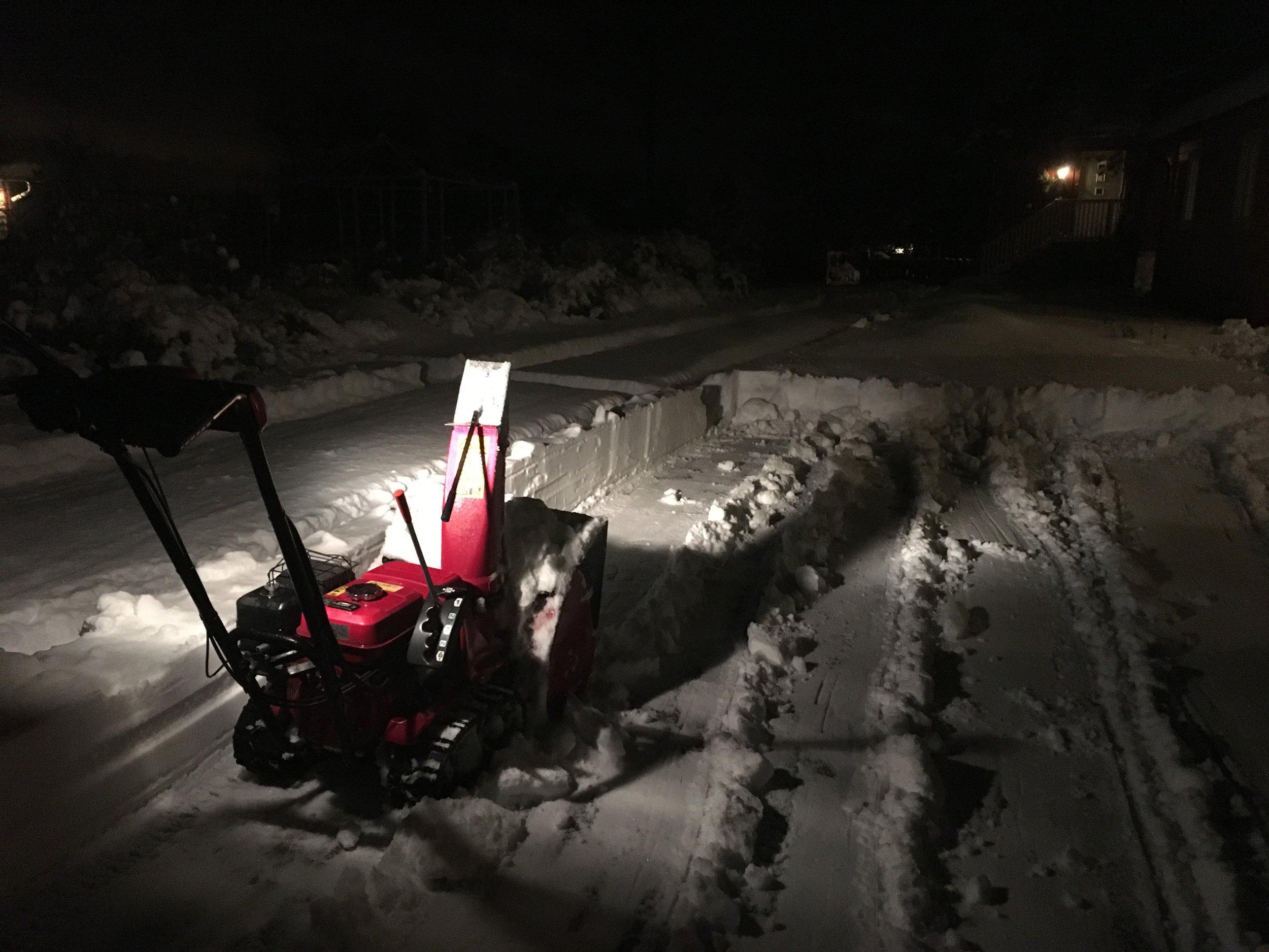Vinter i Moss i 2018. Kraftig snøfall midt i februar sørget for vinter til langt utpå våren.