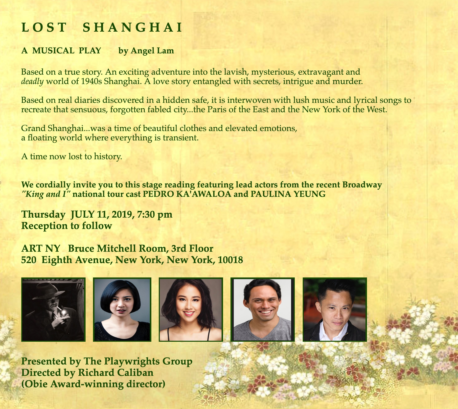 Lost in Shanghai: A Staged Reading - The Playwrights Group