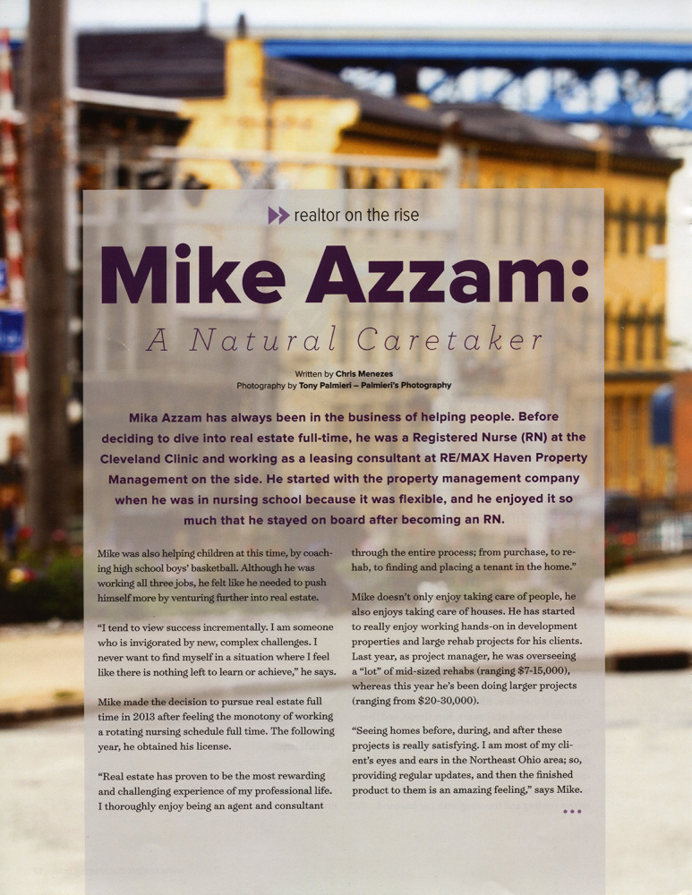 Cleveland Real Producers | Michael Azzam | Realtor on the Rise | February 2018