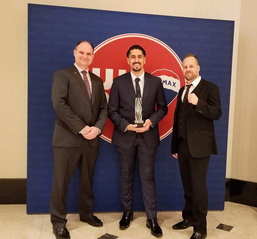 David Terbeek, Michael Azzam and Jamie Claxon at the 2019 RE/MAX R4 Convention